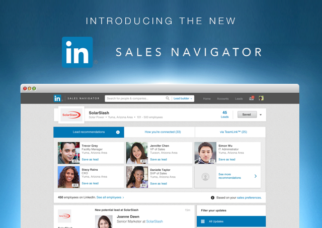 LinkedIn Sales Navigator interface
